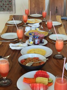 Breakfast is included in our Villa Dining Service